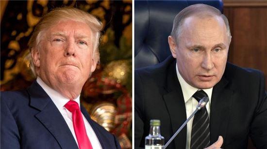 도널드 트럼프 미국 대통령(왼쪽)과 블라디미르 푸틴 러시아 대통령