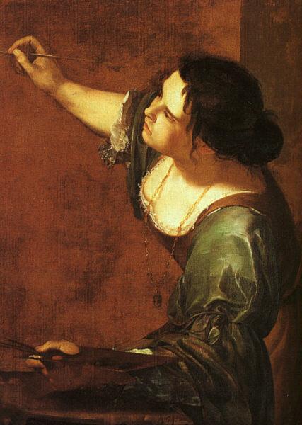 아르테미시아 젠틸레스키 '회화의 알레고리로서의 자화상'