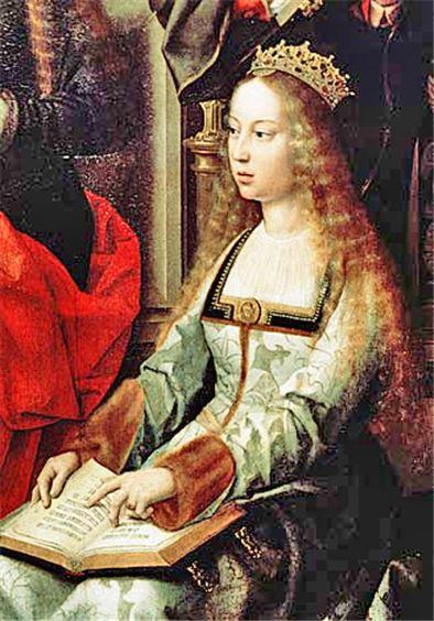 콜럼버스의 항해를 도운 이사벨라 1세 초상화(사진=위키피디아)