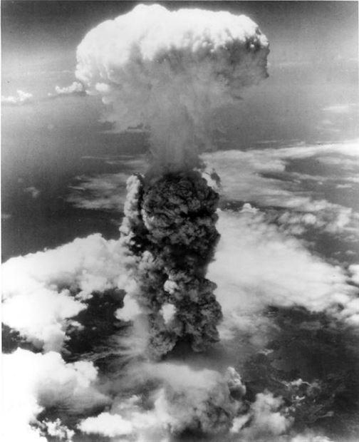 히로시마 원폭 직후 발생한 구름 모습(사진=위키피디아)