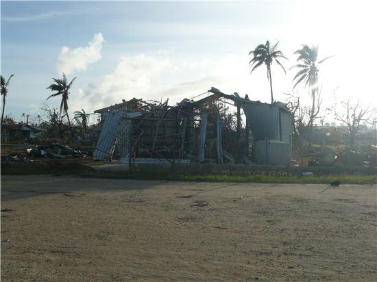 ▲2014년 사이클론 '이안'이 하아파이 섬을 강타했다.[사진제공=깅광형 APCC 박사]