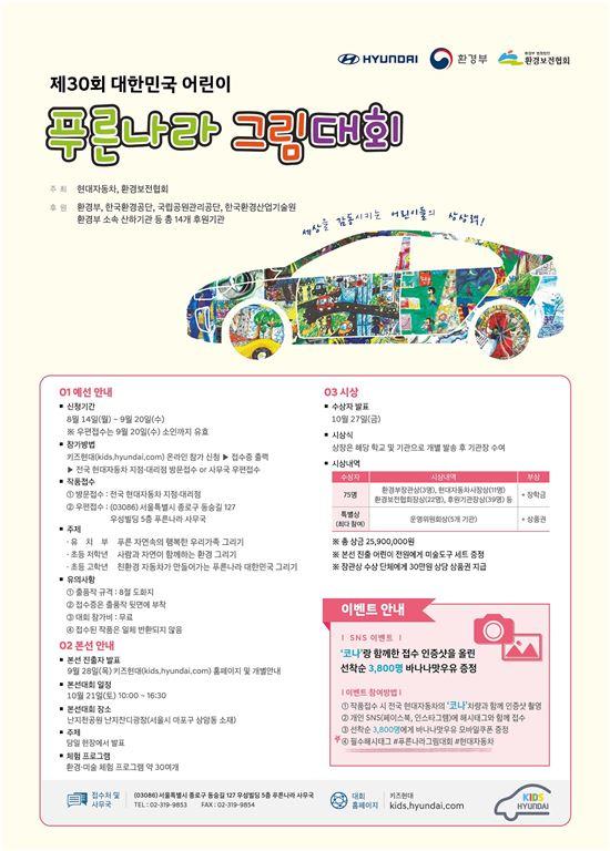 현대차, '제 30회 대한민국 어린이 푸른나라 그림대회' 개최
