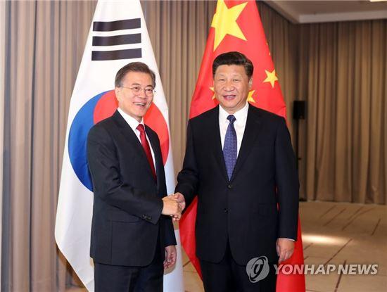문재인 대통령과 시진핑 중국 국가주석. 사진=연합뉴스 제공