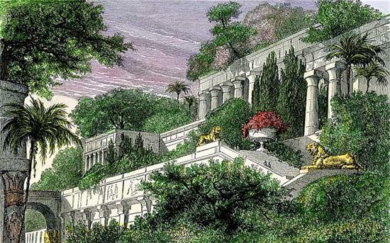 바빌론 공중정원 상상도(사진=위키피디아)