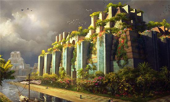 바빌론 공중정원 복원 상상도(사진=위키피디아)