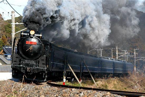 석탄을 이용한 화력으로 움직이는 증기기관차(사진=위키피디아)