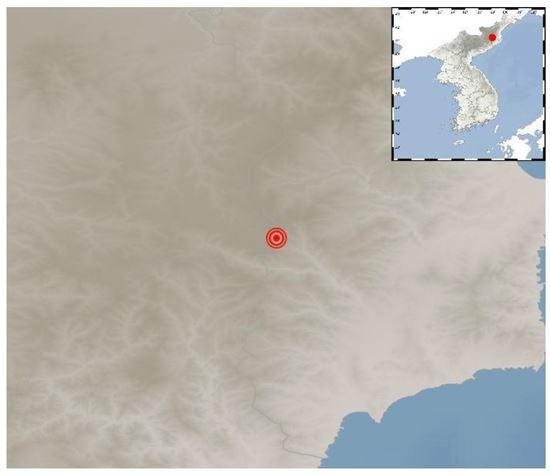 기상청은 3일 오후 12시29분쯤 북한 함경북도 길주군 풍계리 지역에서 규모 5.7 지진이 발생했다고 밝혔다. (사진=기상청 제공)