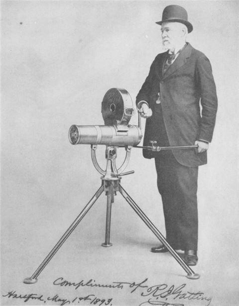 개틀링 건을 비롯해 다양한 농기계를 발명했던 리처드 조던 개틀링 박사(사진=위키피디아)