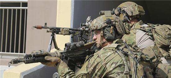 지난해 한·미 연합훈련에 참여한 미 육군 특수부대원의 모습. 사진 = 주한미군
