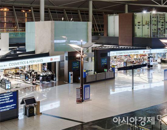 롯데면세점 인천공항점 전경.(사진=롯데면세점 제공)