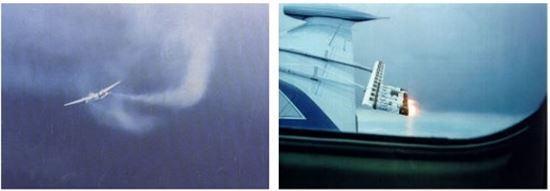 항공기로 요오드 결정체 등을 뿌려 기상을 변화 시키는 인공강우 실행 모습[사진출처=기상청 국립기상연구소]