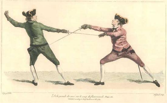 스몰소드로 하는 검술훈련 그림(사진=위키피디아)