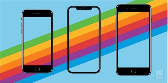 아이폰8, 아이폰X, 아이폰8플러스(사진=폰아레나)