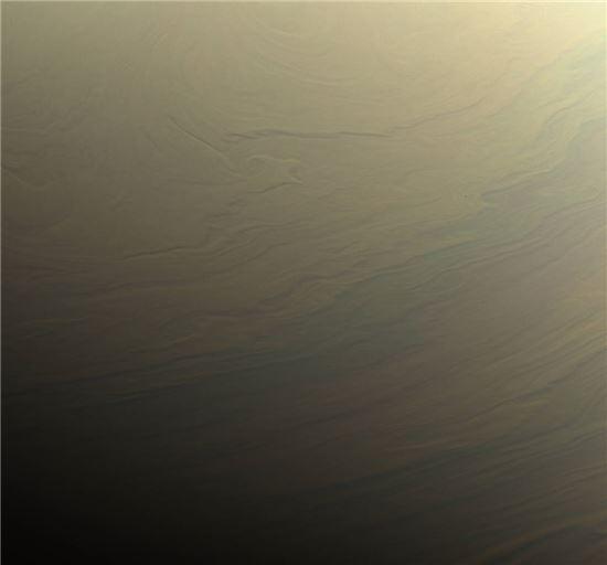 ▲꿈결같은 토성 구름을 카시니 호가 포착했다.[사진제공=NASA]