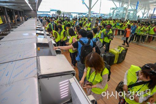 [포토]인천공항 제2여객터미널 자동수하물위탁 시스템