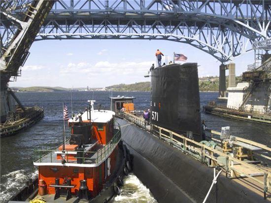 세계 최초의 핵잠수함인 미국의 노틸러스(SSN-571)호 모습(사진=위키피디아)