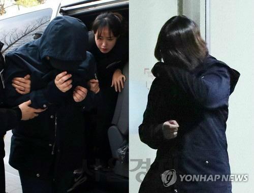 인천 초등생 살인사건의 주범 김 모양(왼쪽)과 공범 박 모양. 사진=연합뉴스