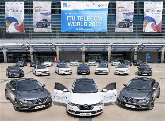 르노삼성자동차가 오는 28일까지 사흘간 부산 벡스코에서 열리는 '2017 국제전기통신연합(ITU) 텔레콤월드' 에 프리미엄 중형세단 SM6 총 30대를 의전차량으로 제공한다고 25일 밝혔다.