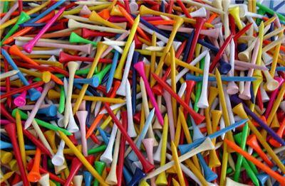 모양과 색상, 재질이 각양각색인 티는 골프용품 가운데 가장 중요하면서도 흔한 소모품이다.