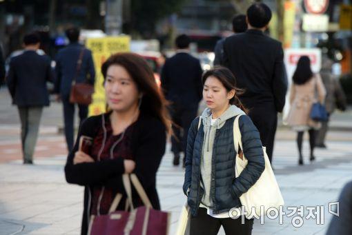 [포토]쌀쌀해진 날씨에 웅크린 출근길