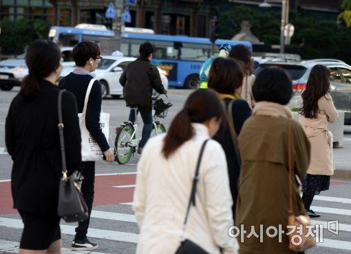 [포토]'출근길 옷차림 든든히'