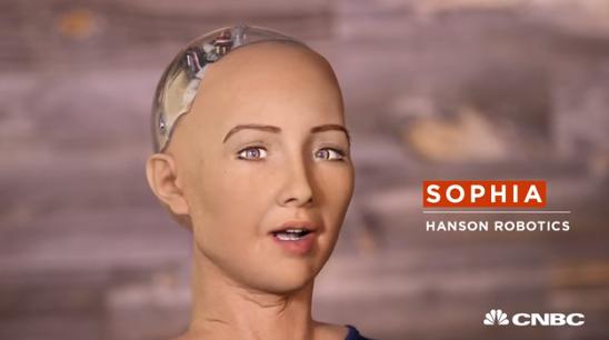 인공지능(AI) 로봇 소피아 (사진 = CNBC 방송 캡처)