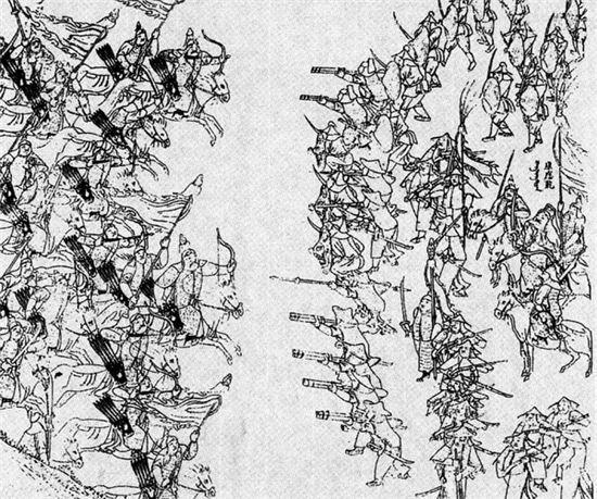 사르후 전투 묘사도(사진=위키피디아)