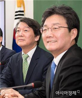 """유승민, 안철수 예방…""""많은 부분서 생각 일치"""""""