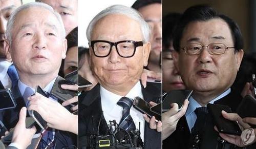 남재준 이병호 이병기 전 국정원장(왼쪽부터 / 출처=연합뉴스)