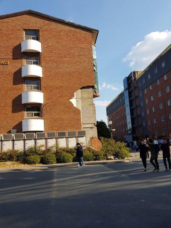 경북 포항서 규모 5.4 지진…한동대, 건물 외벽 무너지기도