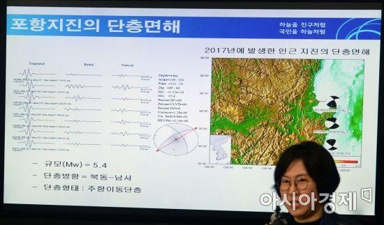 [포토]포항 지진 관련 긴급 브리핑