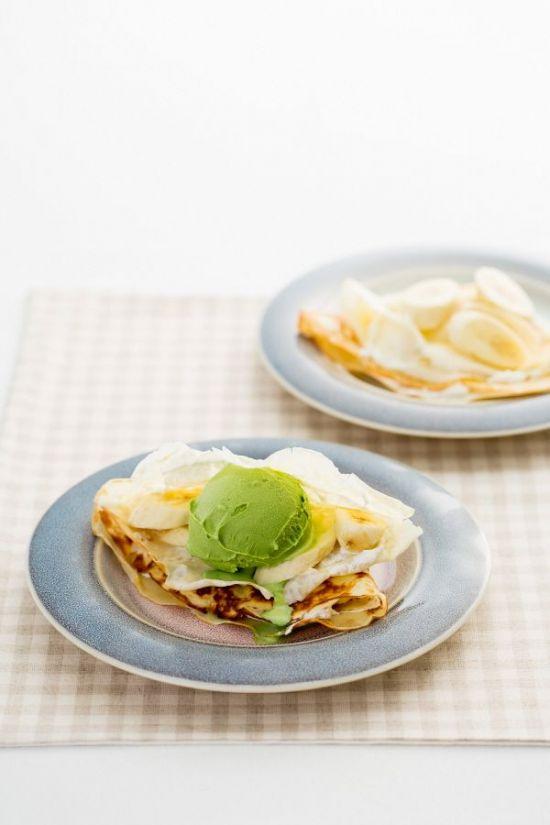 「오늘의 레시피」녹차 아이스크림 크레이프