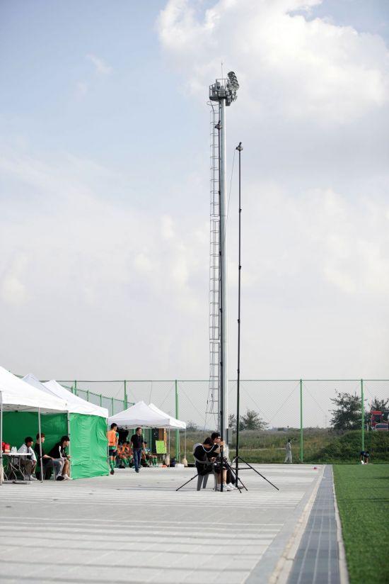 K리그 주니어 경기 영상 촬영용 특수 장비 [사진=한국프로축구연맹 제공]