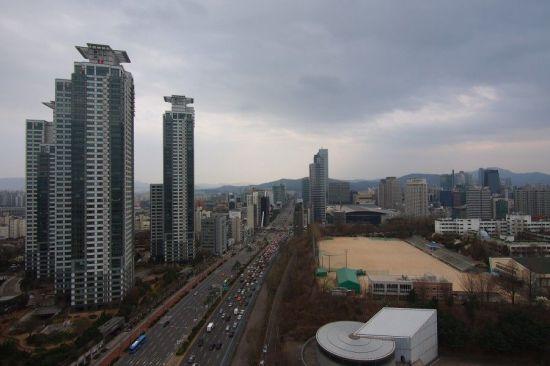 경기고사거리쪽에서 바라본 삼성동 현대아이파크 아파트<자료:서울시>