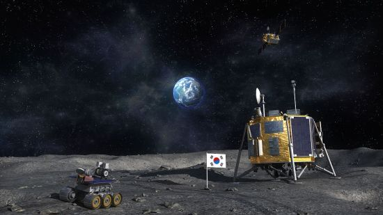 한국의 달 탐사 상상도. [사진출처=한국항공우주연구원]