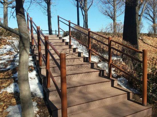 광나루로· 송정제방길 계단· 자전거도로 정비