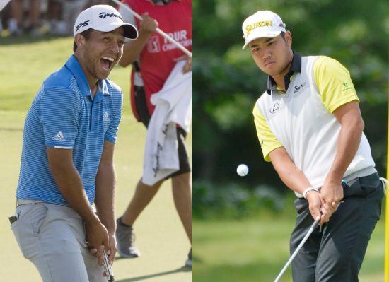 잰더 셔펠레(왼쪽)와 마쓰야마 히데키는 PGA챔피언십 우승이 기대되는 선수들이다.