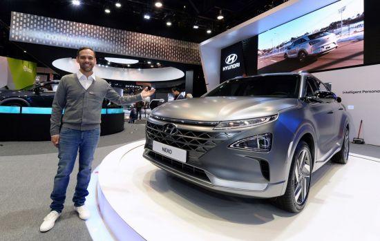 소비자가전전시회(CES) 2018에서 공개된 현대자동차 차세대 수소차 넥쏘