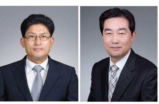 왼쪽부터 송재희ㆍ정난권 한국중소벤처무역협회 공동회장
