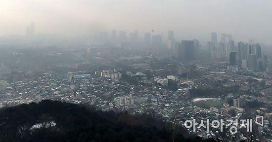 [포토] 미세먼지 농도 '나쁨'