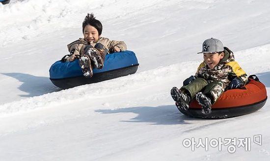[포토] 추위 즐기는 눈썰매