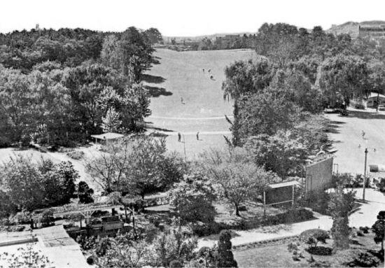 1930년 군자리(현재 광진구 어린이대공원)에 조성된 경성골프구락부 전경.