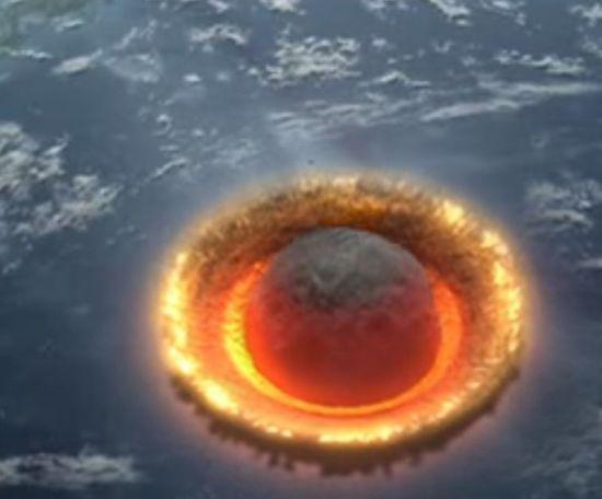 지구와 혜성의 충돌 상상도 [사진출처=유튜브 화면캡처]