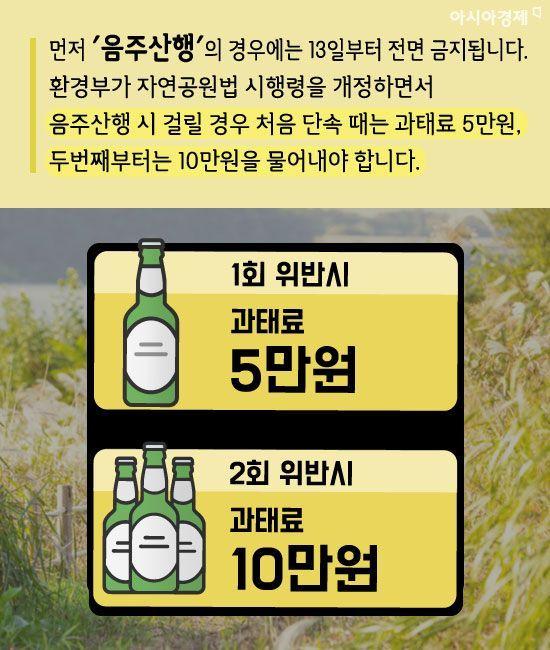 [카드뉴스]3월 봄나들이 필수 주의사항, '음주산행'과 '개파라치'