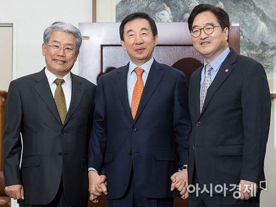 여야 원내대표 회동…개헌·GM 국정조사 이견차만 확인