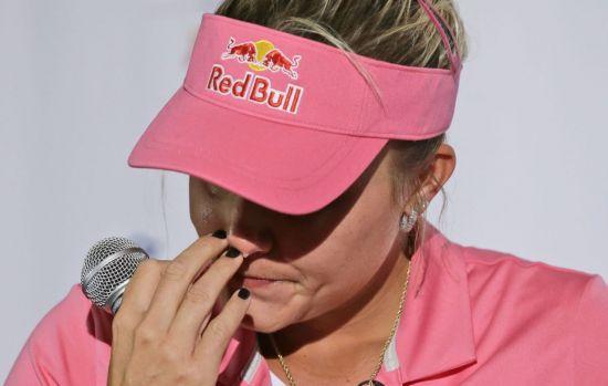 렉시 톰슨은 지난해 ANA에서 마킹 실수로 무려 4벌타를 받아 고개를 떨궜다.