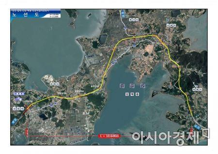 신장~복룡간 도로 시설개량사업 노선도.(사진=신안군 제공)