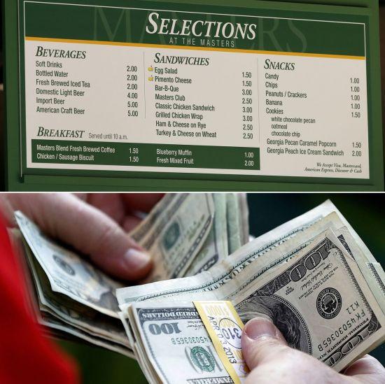 마스터스는 입장권과 식음료, 기념품 판매, TV중계료 등으로 무려 1억2400만 달러의 매출을 올린다.
