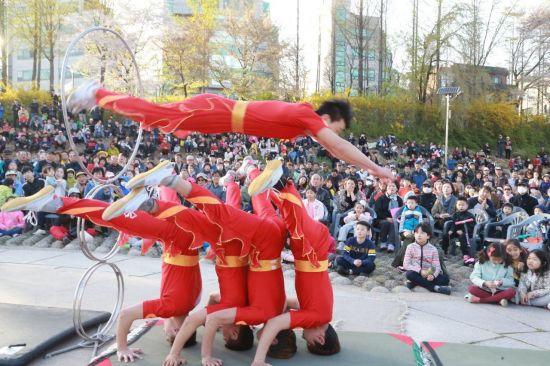 [포토]서초구 '양재천 벚꽃 등(燈) 축제'