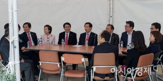 [포토] 한국당, 천막 대책회의